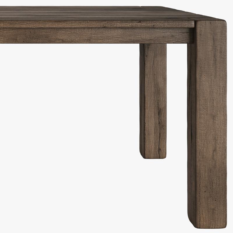 3d reclaimed oak table russian