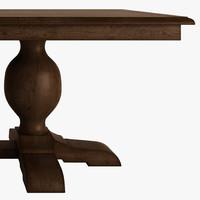 table wood pedestal 3d max