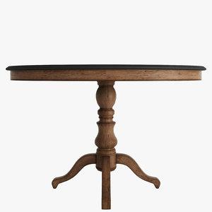 3d model oval dining table bluestone