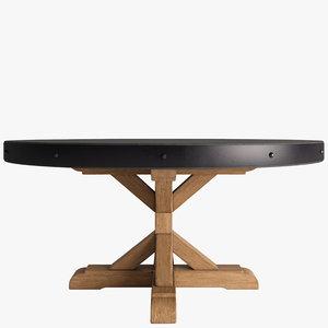 3d table concrete model