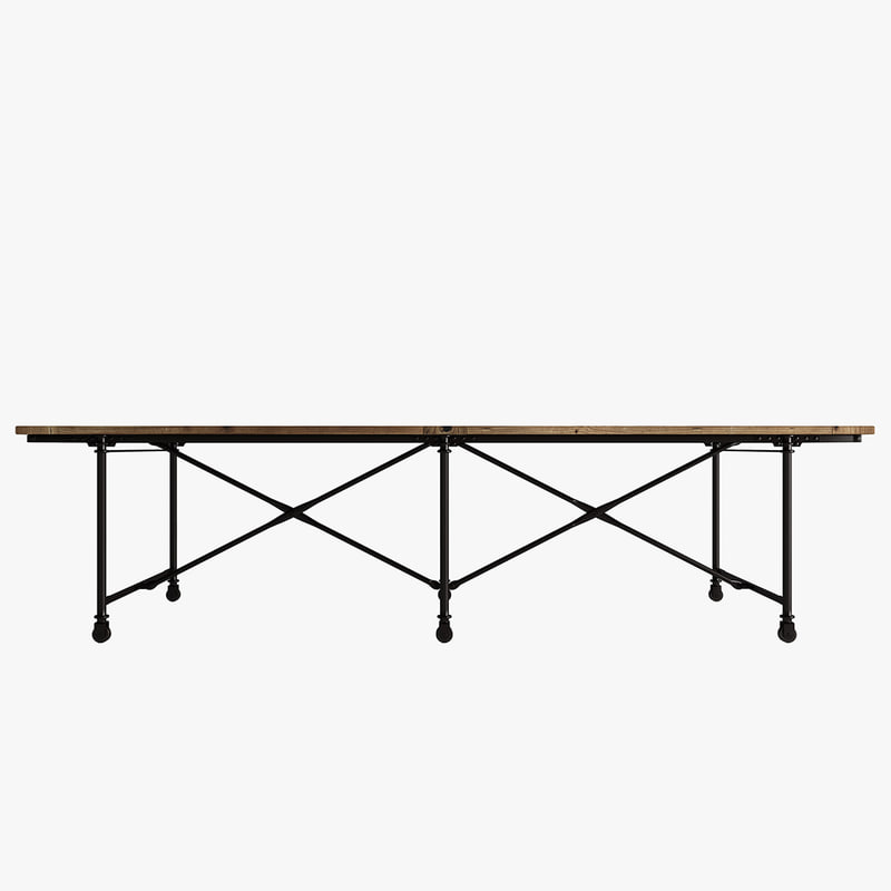 3d metal flatiron table rust model