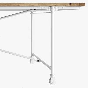 industrial flatiron table 3d max