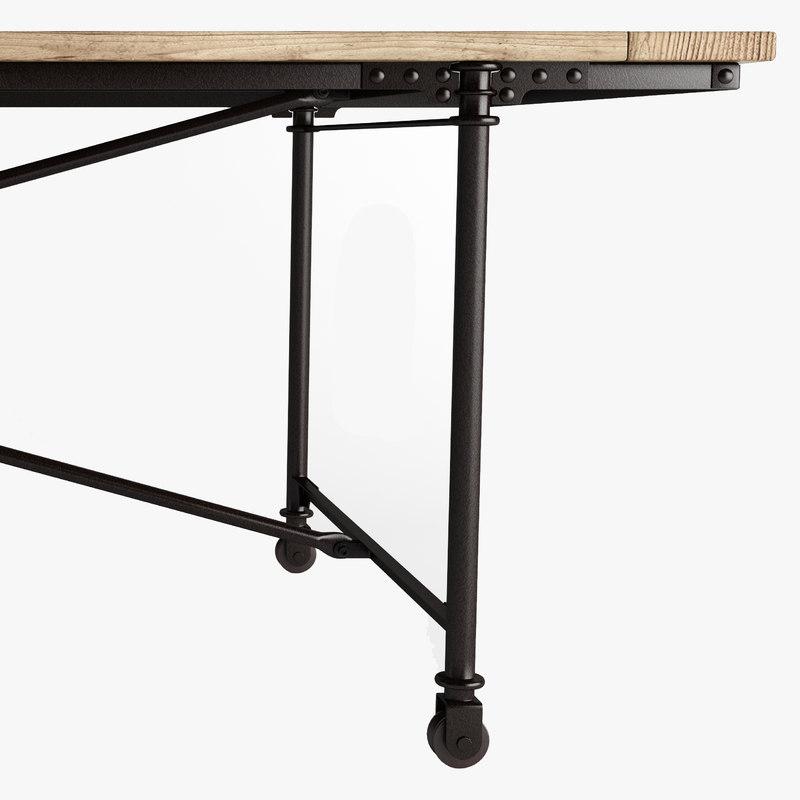 3d metal flatiron table