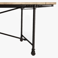 3d metal flatiron table