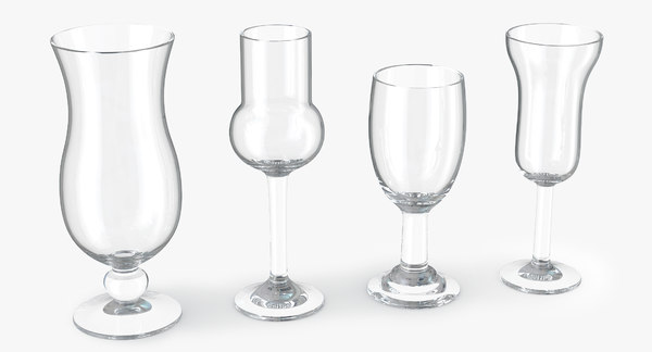 glass cocktails 2 3d obj