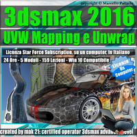 3ds max 2016 UVW Mapping e Unwrap  Locked Subscription, un Computer