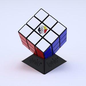 3d rubik puzzle cube model