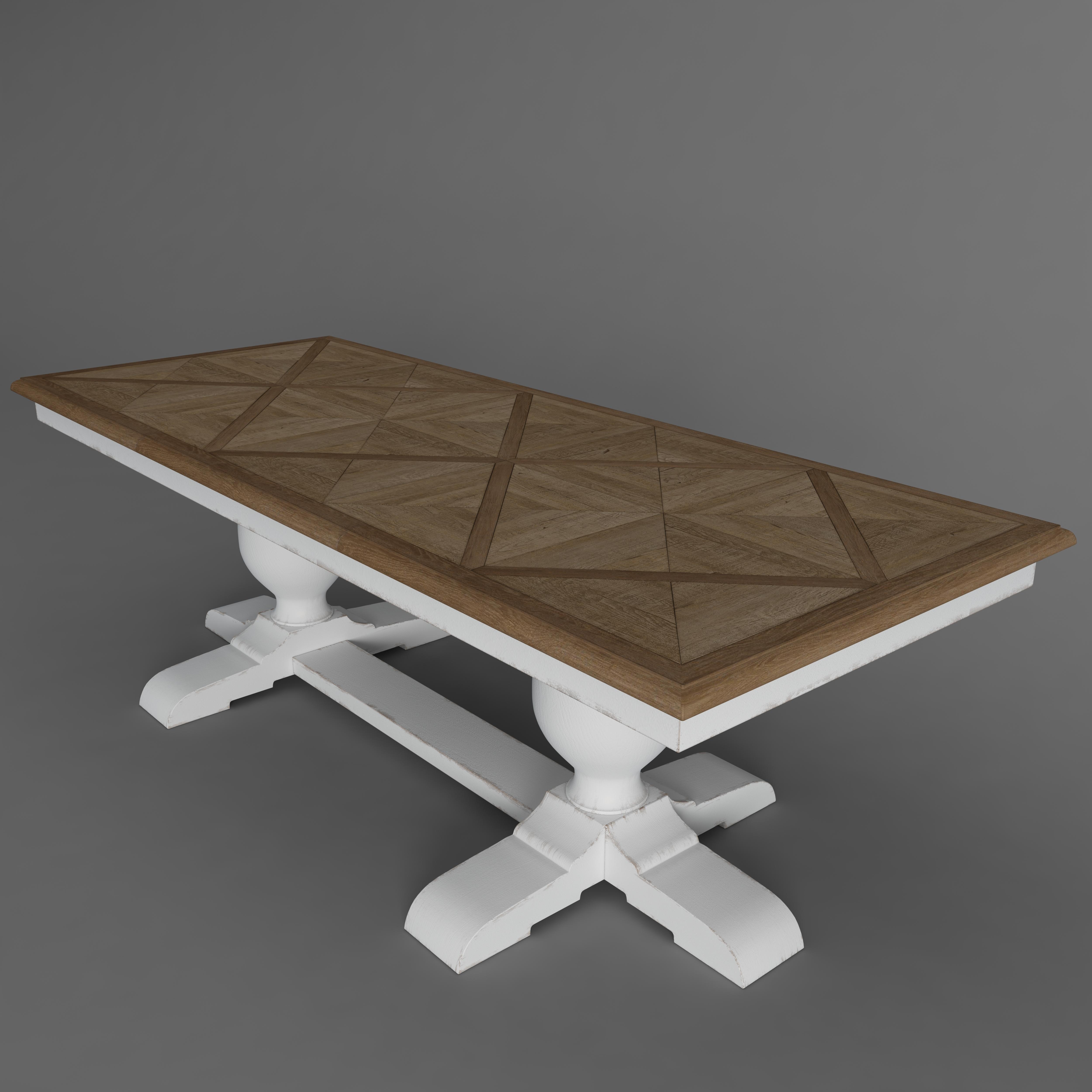Baroque Parquet Table 244l X 99w 79h