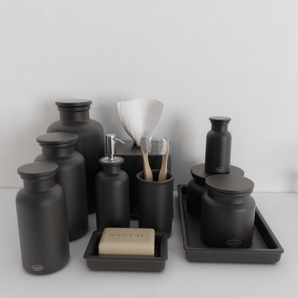 3d model accessories flatiron union stoneware