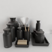 3d model accessories flatiron union stoneware