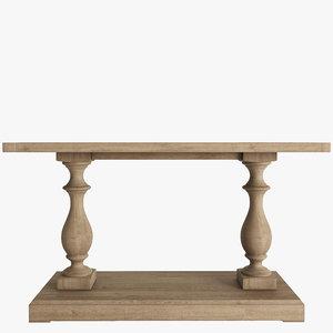 3d model of tables monasteries
