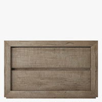 3d model reclaimed oak nightstand russian