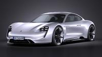 Porsche Mission E Concept 2015 VRAY
