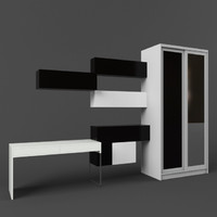 3d wardrobe coupe ikea table model