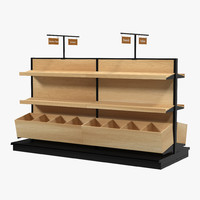 bakery display shelves 3d model