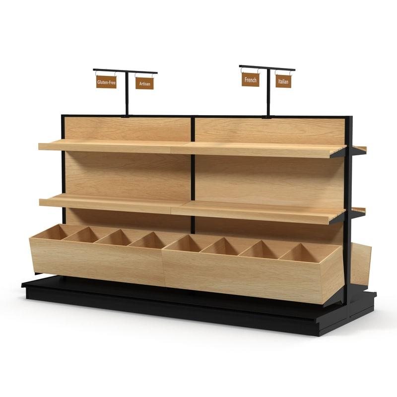 bakery display shelves 3d model