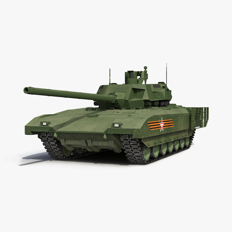 3d russian main battle tank