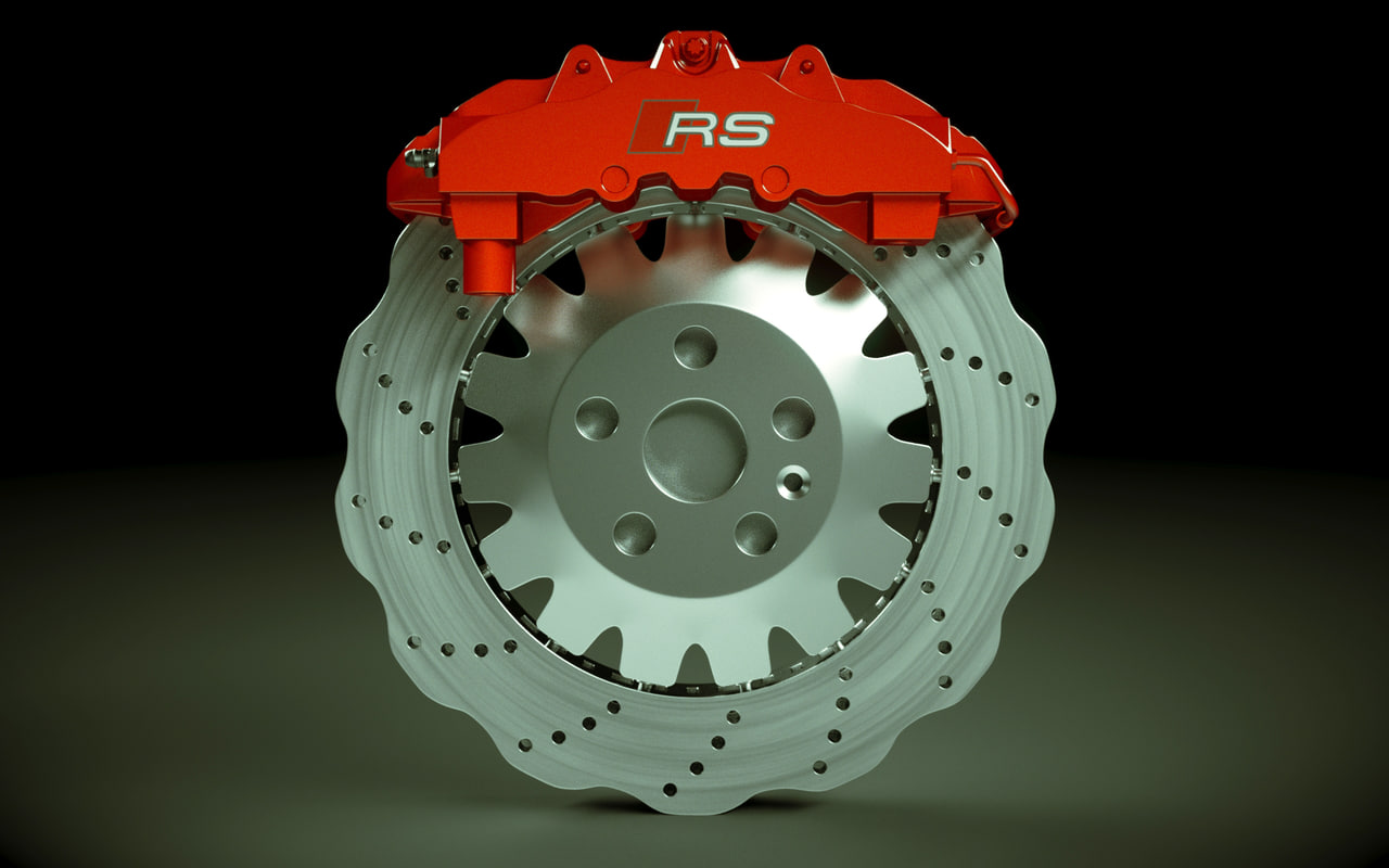 audi rs3 wave rotor 3d model