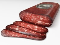 3d sausage lukanka model