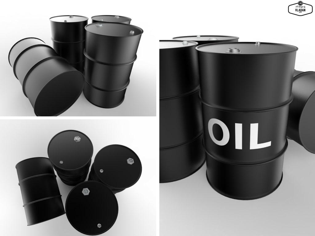 3d oil barrel model