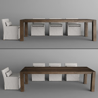 RH DINING ROOM SET  2