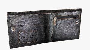 3d purse leather model