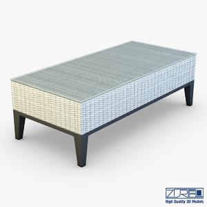 rexus coffee table white 3d model