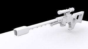 3d model rifle sniper