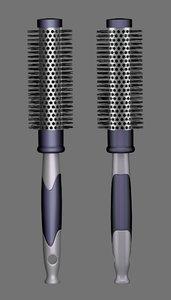 3d hair brush model