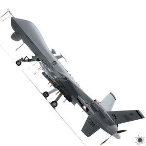3d mq-9 reaper military aircraft