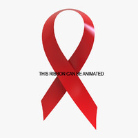 3d red ribbon aids
