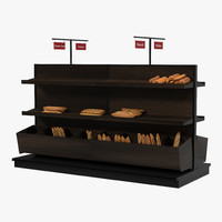 3d model bakery display dark