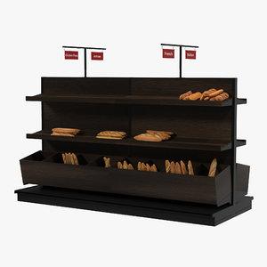 3d model bakery display dark