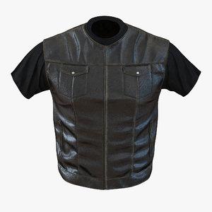 biker vest generic 3d model