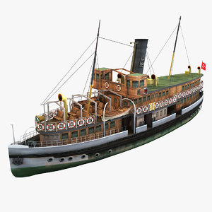 bosphorus steamship 3d model
