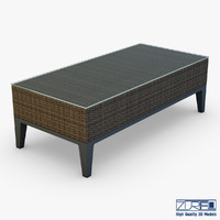 3d rexus coffee table brown model