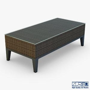 3d rexus coffee table brown model