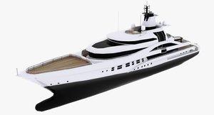3d model motor yacht palladium