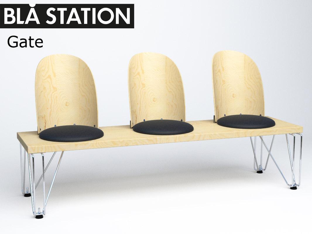 blastation gate 3d model