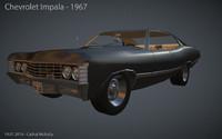 impala 1967 car obj
