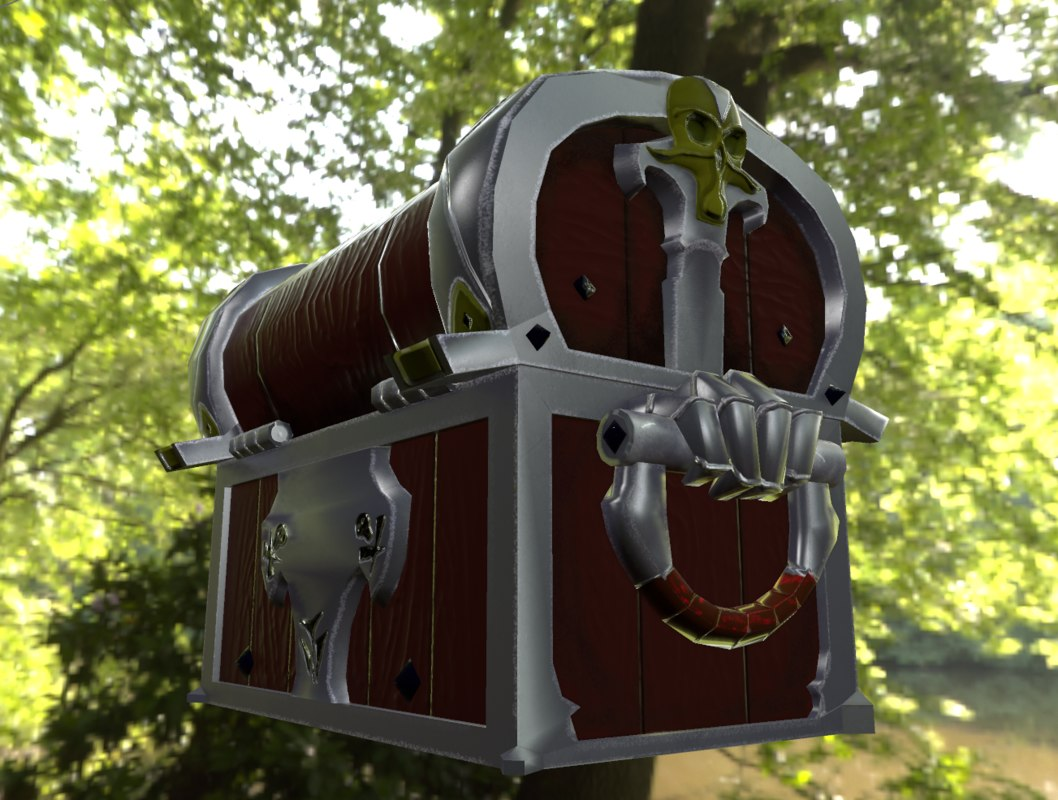 3d model pirate chest