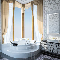 luxury bathroom interior 3d model