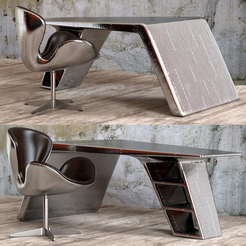 3d chair desk aviator