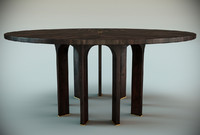 arcade dining table 3d model