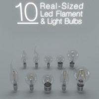 10 LED FLAMENT LIGHT BULBS