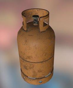 3d gas bottle model