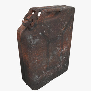 jerrycan rusty old 3d model