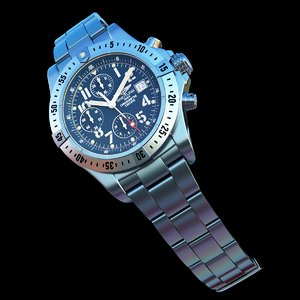 breitling wristwatch 3d model