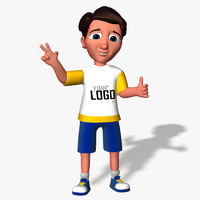 3d cartoon boy kid model