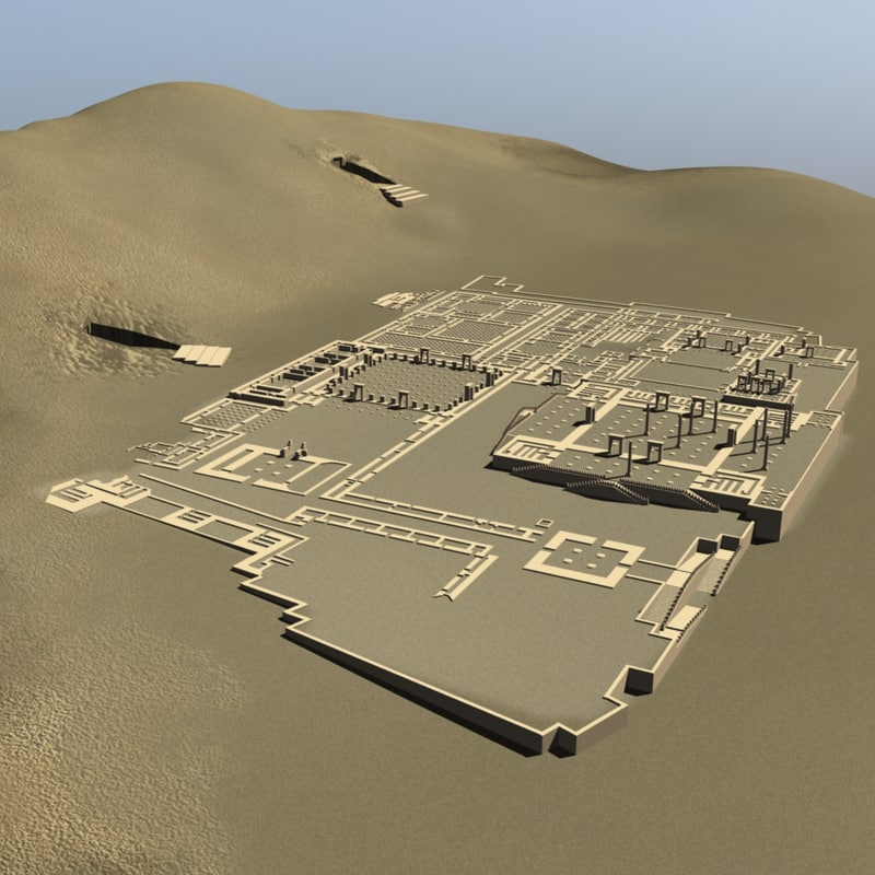 3d persepolis persian city model